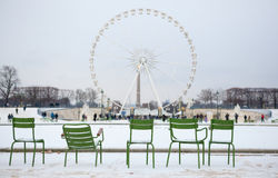 Winter in Paris Stock Photography