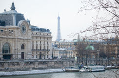 Winter in Paris Royalty Free Stock Photos