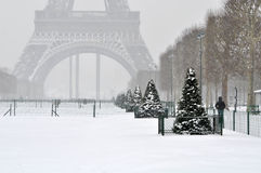 Winter in Paris Stockbild