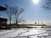 Winter in the park 2. Winter scene royalty free stock photography