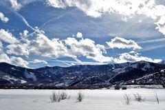 Winter - Park City - Utah stockbilder