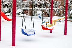 Winter and Park Stock Image