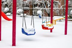 Winter and Park Royalty Free Stock Photography