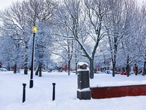 Winter in the park in Leeds, UK. Royalty Free Stock Image