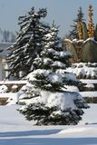 Winter park in Moscow (All-Russia Exhibition Cente Royalty Free Stock Photography