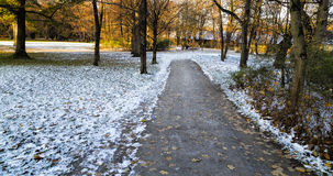 Winter Park in Munich, Germany Stock Image