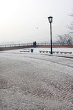 Winter park near Wawel castle Stock Image