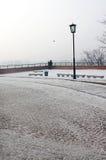 Winter park near Wawel castle stock image