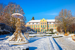 Winter park in Oliwa Stock Images