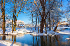 Winter park in Oliwa Royalty Free Stock Images