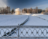 Winter park with rotunda Stock Image