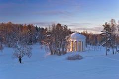 Winter park with rotunda Stock Image