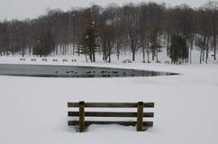 Winter Park Scene Stock Photography