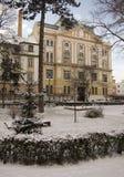 Winter park in Sibiu Royalty Free Stock Image