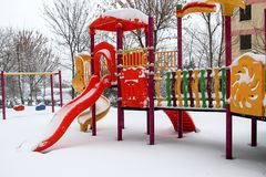 Winter and Park Royalty Free Stock Photos