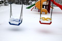 Winter and Park Royalty Free Stock Images