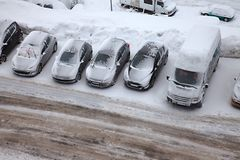 Winter parking Royalty Free Stock Image