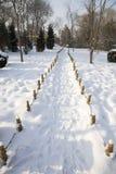 Winter parkway Stock Photo