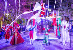 Winter parq show in the Linq Las Vegas Royalty Free Stock Photo