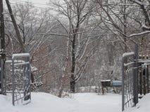 Winter in Partizansk Stockfotos