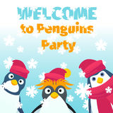 Winter party invitation Stock Photos