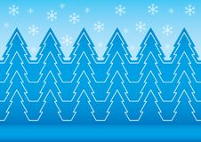 Winter patern with snowflake Royalty Free Stock Photos