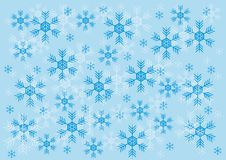 Winter patern with snowflake Stock Image