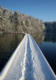 Winter path. Path on a lake Royalty Free Stock Image