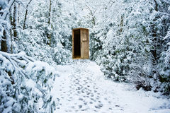 Free Winter Path Through Forest With Secret Door Stock Image - 19657531