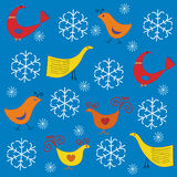 Winter pattern Royalty Free Stock Images