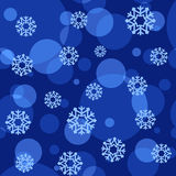 Winter pattern. Snowflakes on blue background. Winter vector seamless pattern Stock Image