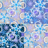Winter pattern. Seamless snowflakes winter pattern. Vector illustration Royalty Free Stock Images