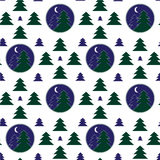 Winter pattern. Simless geometrical pattern with firtrees Stock Photography