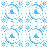 Winter pattern blue Royalty Free Stock Images