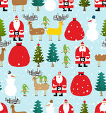Winter pattern for Christmas and new year. Seamless background f Stock Image