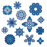 Winter Pattern Elegant floral abstract elements Royalty Free Stock Image