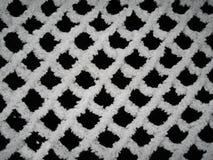 Winter pattern - frozen netting Royalty Free Stock Image