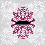 Winter pattern glossy background Royalty Free Stock Photos