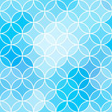 Winter pattern like frosty ornament on glass. Vector seamless background in blue colors Stock Image