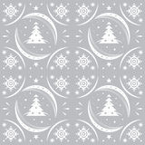Winter pattern silver Royalty Free Stock Images