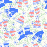 Winter pattern Stock Image