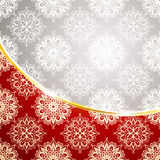 Winter pattern with snowflakes Royalty Free Stock Image