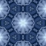 Winter pattern .Snowflakes Stock Photos