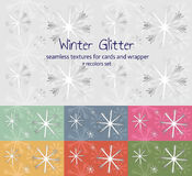 Winter pattern. Snowflakes winter seamless background with recolors Royalty Free Stock Photo