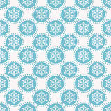 Winter pattern with snowflakes. Seamless background. Stock Image