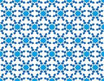 Winter pattern with stylized snowflakes Stock Photography