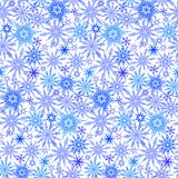Winter pattern with various falling snowflakes Royalty Free Stock Photo