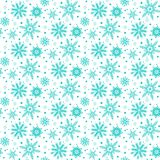 Winter pattern with various falling snowflakes Royalty Free Stock Image