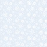 Winter pattern with various falling snowflakes Stock Photography