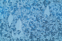 Winter patterns on glass Royalty Free Stock Image